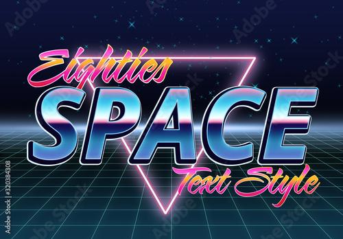 Fototapeta Eighties Space Text Effect Mockup obraz