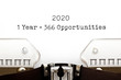 canvas print picture - 1 Leap Year 2020 Equal To 366 Opportunities