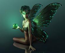The Green Crystal, 3d CG