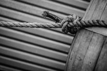 Black And White Rope Around Barrel