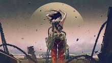 Futuristic Woman Wearing A Spa...