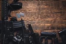 Rifle, Radio, Knife, Binocular...