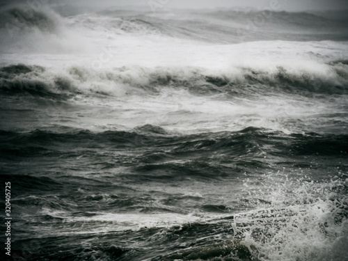 Crashing big sea waves Wallpaper Mural