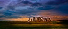Dramatic Skies At The Iconic Stonehenge Landmark In England
