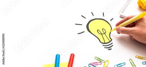 Fotografie, Obraz Creative new idea. Innovation, brainstorming, solution concepts.