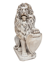 Statue Of Lion Animal Isolated...
