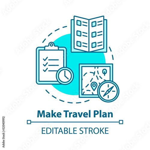 Make travel plan concept icon Canvas Print