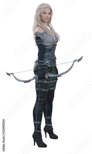 Photo CGI Female Fantasy Archer Standing