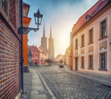 Wroclaw, Poland. View Of Kated...