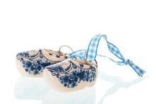 Blue And White Dutch Clogs