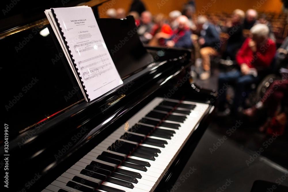 Fototapeta Partition sur un piano