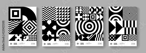 Fototapeta Cool minimal geometric poster collection vector design.  Trendy pattern. obraz