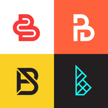 Letter B Logo Collection Vecto...