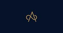 Luxury A Letter Logo Sign Vector Design. Elegant Linear Monogram.