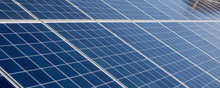 Panorama Solar Panels Background For Solar Energy Concept Images.