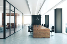 Modern Conference Room With Eq...