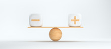 Wooden Scale Balancing Cubes W...
