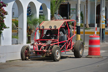 Dune Buggy Parked On The Street In Paracas Peru