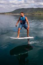 Man Riding An Electric Hydrofo...