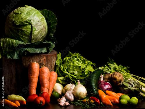 Obraz bodegón verduras  - fototapety do salonu