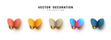 Abstract 3d Butterfly. Vector ...