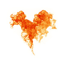 Fire Heart White Background