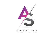 AS A S Letter Logo With Colorb...