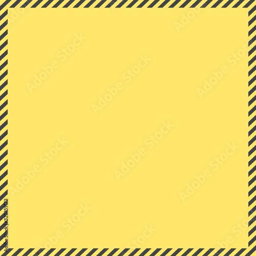 Photo 警告・危険・防災イメージ素材:黄色と黒のシンプルな注意喚起背景素材(正方形)