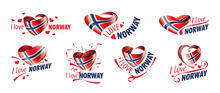 National Flag Of The Norway In...