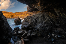 Caves At The Ocean Cliff In Mo...