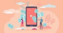 Video Channel Monetization Concept