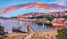 Panoramic Evening View Of Port...