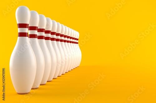 Fototapeta Bowling pins obraz