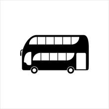 Double Decker Bus Icon, Bus