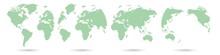 Set World Globe Icons White Ba...