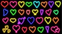 Heart Neon .Heart  Neon Vector...