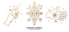 Esoteric Symbols. Vector. Thin...