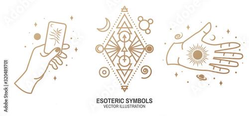 Obraz na płótnie Esoteric symbols