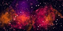 Colorful Space Shot Of Milky W...