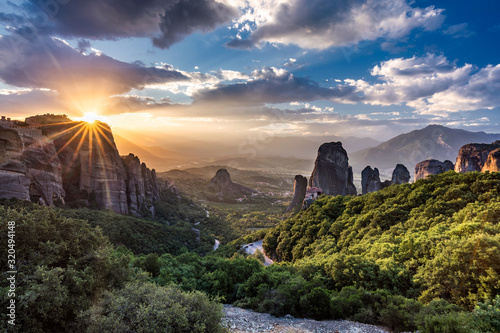 Monastery Meteora Greece Wallpaper Mural