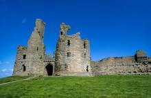 Chateau, Dunstanburgh, East Lothian, Ecosse, Grande Bretagne
