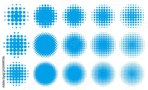 Fotografía 円形の網点グラデーション・セット