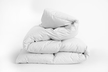 Folded Soft White Duvet, Blank...