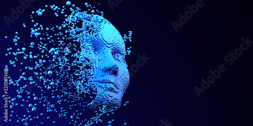 Brain AI Artificial intelligence Machine Learning Abstract Head Business Interne Canvas Print