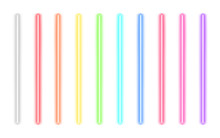 Neon Glow Sticks. Fluorescent Laser Rays. Beams Of Light