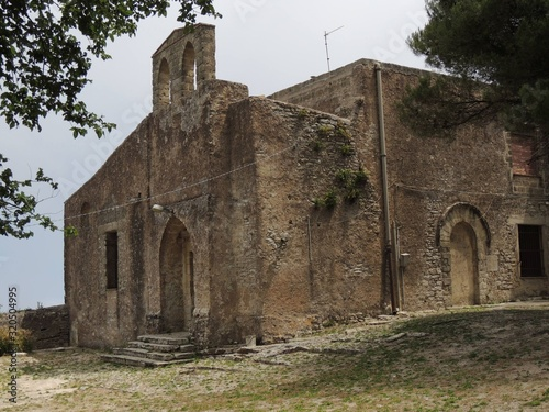Photo Erice – Church of  Sant'Antonio Abate facade with the bell tower