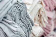 Material On The Textile Factory. Cloth Clothing Texture Material Textile Pattern Background.