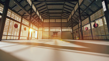 3D Japanese Hall For Karate Tr...