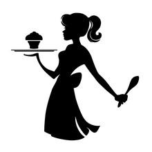 Waitress With Cupcake