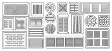 Air Vent Vector Outline,line Set Icon.Vector Illustration Ventilation Grate On White Background .Isolated Outline,line Set Icon Air Vent .